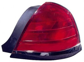 1999-2000 Ford Crown Victoria Tail Light Rear Lamp (with 2 Bulb Lamp / with Black Molding) - Right (Passenger)