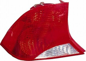 2003-2004 Ford Focus Tail Light Rear Lamp (Sedan / without Bulb or Socket / with Black Housing) - Right (Passenger)