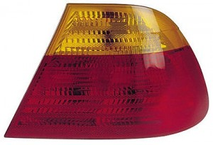 2001-2003 BMW 325i Tail Light Rear Lamp (Coupe / E46 / Outer / with Amber Lens / to 3/03) - Right (Passenger)