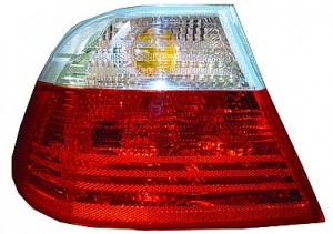2001-2003 BMW 325i Tail Light Rear Lamp (Coupe / E46 / Outer / with White Lens / to 3/03) - Left (Driver)