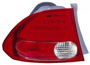 2006-2008 Honda Civic Tail Light Rear Lamp (Sedan / On Body) - Left (Driver)