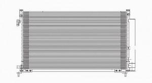 2006-2009 Honda Civic A/C (AC) Condenser (1.8L / 2.0L) [Coupe]