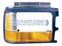 1991-1996 Dodge Dakota Headlight Bezel (with Composite Lamp / with Lens / Bright Lens) - Right (Passenger)