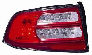 2007-2008 Acura TL Tail Light Rear Lamp (Base/Navi Models) - Left (Driver)