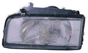 1993-1997 Volvo 850 Headlight Assembly (with Single Bulb Headlamps) - Left (Driver)