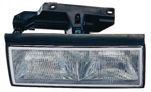 1991-1993 Cadillac Deville Headlight Assembly - Left (Driver)