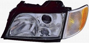 1996-1997 Audi A6 Headlight Assembly - Left (Driver)