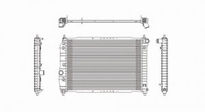 2004-2008 Chevrolet (Chevy) Aveo Radiator (1.6L L4 / Without A/C)