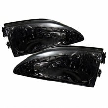 1994-1998 Ford Mustang Crystal HeadLights (PAIR) - Smoke (Spyder Auto)