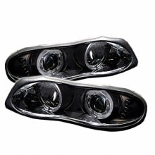 1998-2002 Chevy Camaro Projector HeadLights (PAIR) - LED Halo - LED ( Replaceable LEDs ) - Black - High 9005 (Included) - Low H1 (Included) (Spyder Auto)