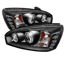 2004-2007 Chevy Malibu Projector HeadLights (PAIR) - LED Halo - LED ( Replaceable LEDs ) - Black - High H1 (Included) - Low H1 (Included) (Spyder Auto)