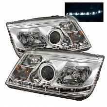 1999-2005 Volkswagen Jetta Projector HeadLights (PAIR) - DRL - Chrome - High H1 (Included) - Low H1 (Included) (Spyder Auto)