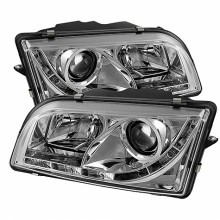 1997-2003 Volvo S40 Projector HeadLights (PAIR) - DRL - Chrome - High H1 (Included) - Low H1 (Included) (Spyder Auto)
