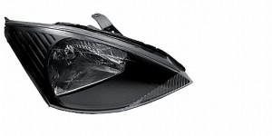 2000-2004 Ford Focus Crystal HeadLights (PAIR) - Black (Spyder Auto)