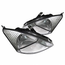 2000-2004 Ford Focus Crystal HeadLights (PAIR) - Chrome (Spyder Auto)