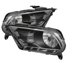 2010-2012 Ford Mustang Crystal HeadLights (PAIR) - Black (Spyder Auto)
