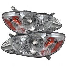 2003-2006 Toyota Corolla Crystal HeadLights (PAIR) - Chrome (Spyder Auto)