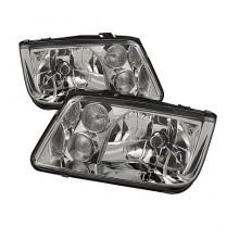 1999-2005 Volkswagen Jetta Crystal HeadLights (PAIR) - Chrome (Spyder Auto)