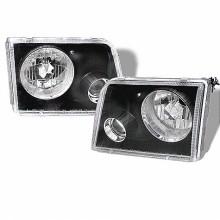 1993-1997 Ford Ranger Projector HeadLights (PAIR) - Black (Spyder Auto)