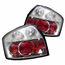 2002-2005 Audi A4 Euro Style Tail Lights (PAIR) - Chrome (Spyder Auto)