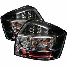 2002-2005 Audi A4 LED Tail Lights (PAIR) - Black (Spyder Auto)
