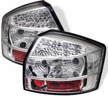 2002-2005 Audi A4 LED Tail Lights (PAIR) - Chrome (Spyder Auto)