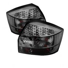 2002-2005 Audi A4 LED Tail Lights (PAIR) - Smoke (Spyder Auto)