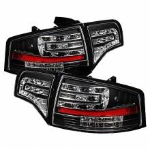 2006-2008 Audi A4 4Dr LED Tail Lights (PAIR) - Black (Spyder Auto)