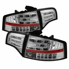 2006-2008 Audi A4 4Dr LED Tail Lights (PAIR) - Chrome (Spyder Auto)