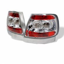 1996-2001 Audi A4 Euro Style Tail Lights (PAIR) - Chrome (Spyder Auto)