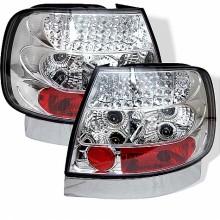 1996-2001 Audi A4 LED Tail Lights (PAIR) - Chrome (Spyder Auto)