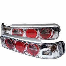 1990-1993 Acura Integra 2Dr Euro Style Tail Lights (PAIR) - Chrome (Spyder Auto)