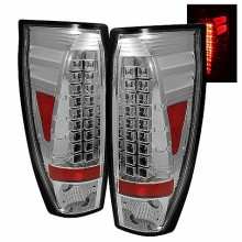 2002-2006 Chevy Avalanche LED Tail Lights (PAIR) - Chrome (Spyder Auto)