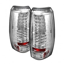 2007-2012 Chevy Avalanche LED Tail Lights (PAIR) - Chrome (Spyder Auto)