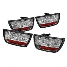 2010-2012 Chevy Camaro LED Tail Lights (PAIR) - Chrome (Spyder Auto)