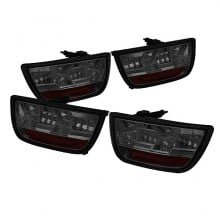 2010-2012 Chevy Camaro LED Tail Lights (PAIR) - Smoke (Spyder Auto)