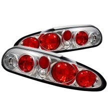 1993-2002 Chevy Camaro Euro Style Tail Lights (PAIR) - Chrome (Spyder Auto)