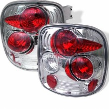 1999-2004 Chevy Silverado Stepside Euro Style Tail Lights (PAIR) - Chrome (Spyder Auto)