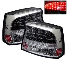2006-2008 Dodge Charger LED Tail Lights (PAIR) - Chrome (Spyder Auto)