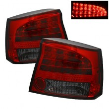 2006-2008 Dodge Charger LED Tail Lights (PAIR) - Red Smoke (Spyder Auto)