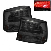 2006-2008 Dodge Charger LED Tail Lights (PAIR) - Smoke (Spyder Auto)