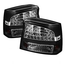 2009-2010 Dodge Charger LED Tail Lights (PAIR) - Black (Spyder Auto)