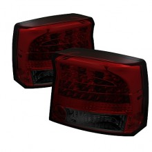2009-2010 Dodge Charger LED Tail Lights (PAIR) - Smoke (Spyder Auto)