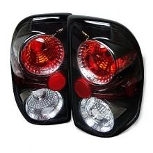 1997-2004 Dodge Dakota Euro Style Tail Lights (PAIR) - Black (Spyder Auto)