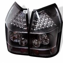 2005-2008 Dodge Magnum LED Tail Lights (PAIR) - Black (Spyder Auto)