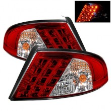 2001-2006 Dodge Stratus 4Dr LED Tail Lights (PAIR) - Red Clear (Spyder Auto)
