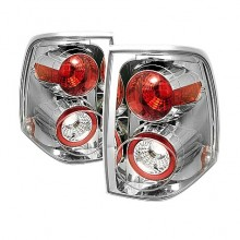 2003-2006 Ford Expedition Euro Style Tail Lights (PAIR) - Chrome (Spyder Auto)