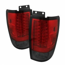 1997-2002 Ford Expedition Version 2 LED Tail Lights (PAIR) - Red Smoke (Spyder Auto)