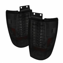 1997-2002 Ford Expedition Version 2 LED Tail Lights (PAIR) - Smoke (Spyder Auto)