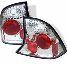 2000-2004 Ford Focus 4Dr Euro Style Tail Lights (PAIR) - Chrome (Spyder Auto)